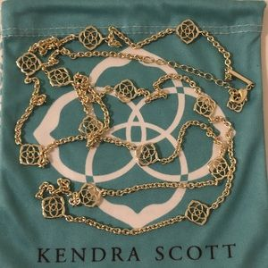 Kendra Scott Devalyn Long Gold Necklace